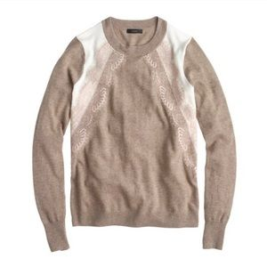 J. Crew Colorblock Sweater with Lace-Panels M